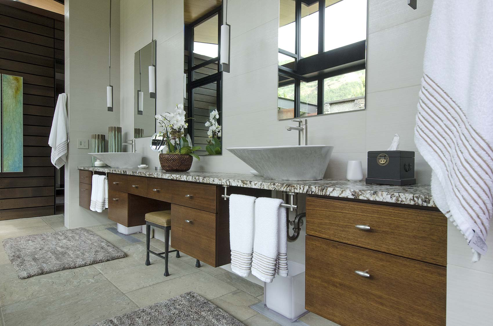 master bath from project in Rowena, Oregon built by Huberd Design